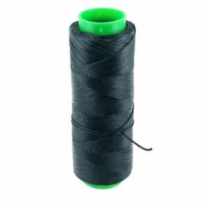 Bobine de fil polyester tressé et ciré - 100 mètres - diam 1 mm - GRIS FONCE