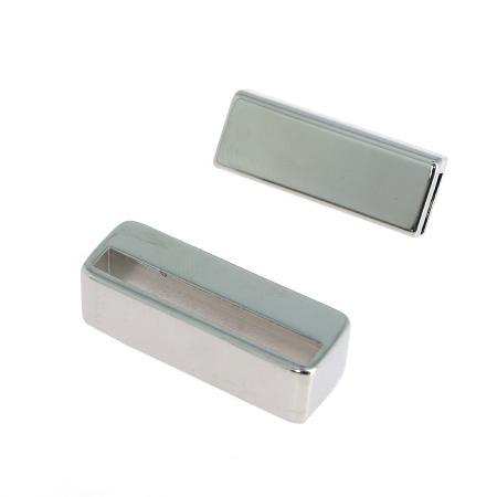 Fermoir bijou avec passant - 30 mm - NICKELE