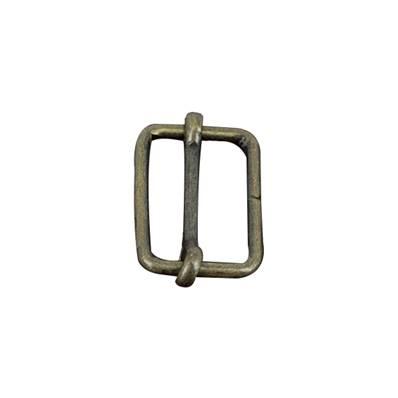 Boucle coulissante - Laiton vieilli - 16 x 10 mm - Fil 1,9 mm