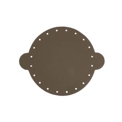 Cuir déja coupé pour faire une bourse en cuir TAUPE - Diamètre 14,5 cm