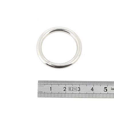 Anneau rond soudé - INOX - 25 mm - Fil 4 mm