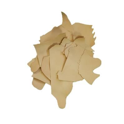 3 kg de chutes de cuir de veau végétal naturel imperméabilisé MAYA - Ép 2 mm