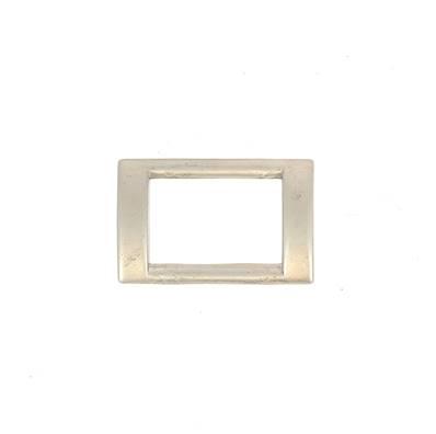 Passant rectangulaire plat - NICKELE SATINÉ - 20x13 mm