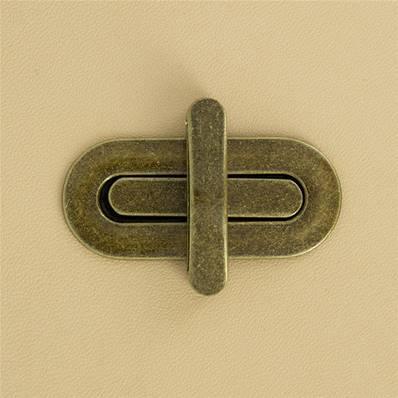 Fermoir pour sac OVALE - LAITON VIEILLI - 50x22 mm
