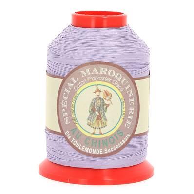 Fil Spécial Maroquinerie polyester coton - 28/3 - 0,45 mm - MAUVE