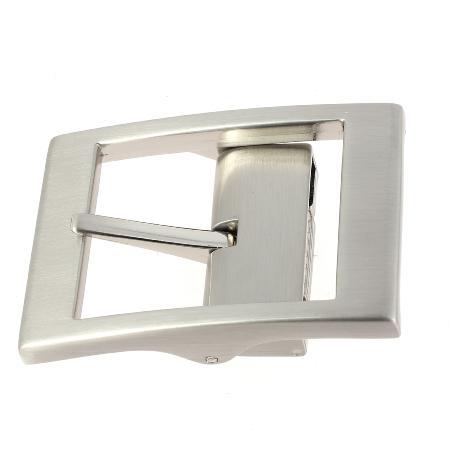Boucle de ceinture à griffe MAT - NICKELÉ SATINÉ - 35 mm