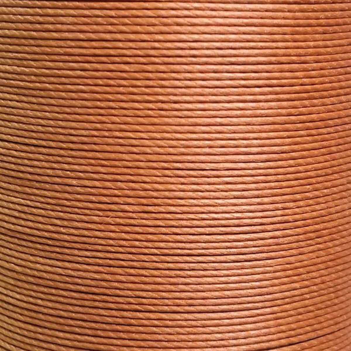 Cartonnette de 8m de fil de lin ciré MeiSi M70 - 0,75 mm - CARAMEL - MS004