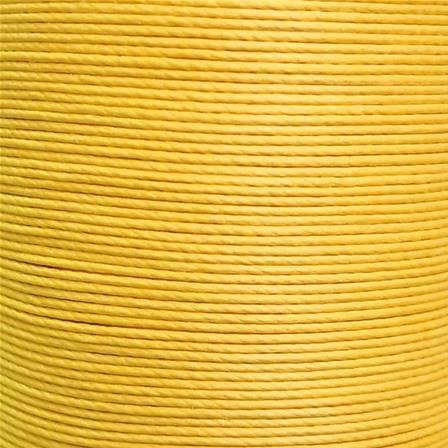 Cartonnette de 8m de fil de lin ciré MeiSi super fine M40 - 0,45 mm - JAUNE BANANE - MS017