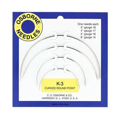 Lot de 4 aiguilles courbes pour coudre le cuir - K3