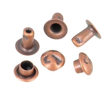 Lot de 100 rivets MARTELES - 6 mm - VIEUX CUIVRE