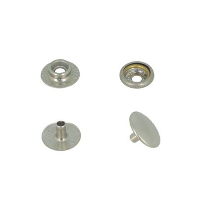Lot de 10 boutons pression FORT en INOX - TANDY LEATHER - LINE 24 : 15 mm