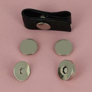 Top magnétique à riveter - NICKELE - diam 18mm