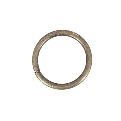Anneau rond soudé - acier LAITON VIEILLI - 40 mm - Fil 5 mm