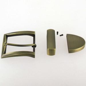 Boucle de ceinture 3 pièces - LAITON VIEILLI BROSSE - 40 mm