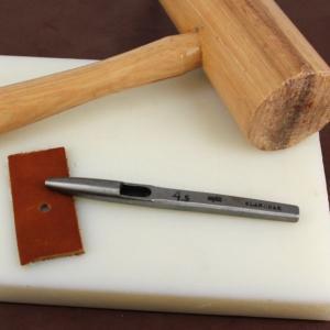 Emporte pièce à frapper rond diam 4,5 mm - Vergez Blanchard