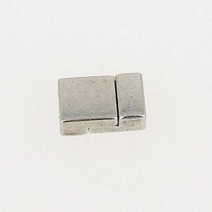 Fermoir pour bracelet - Rectangles aimantés - Argent vieilli - Lanière 10 mm