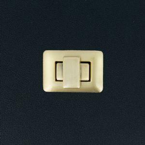 Fermoir tourniquet rectangle - 25x36 mm - LAITON VIEILLI