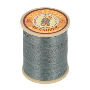 Bobine fil de lin au chinois retors extra glacé n°24 - GRIS FONCE 155