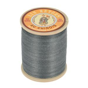 Bobine fil de lin au chinois retors extra glacé n°40 - GRIS FONCE 155