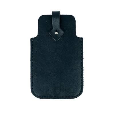 KitenCuir pochette Smartphone Noir - Fil noir