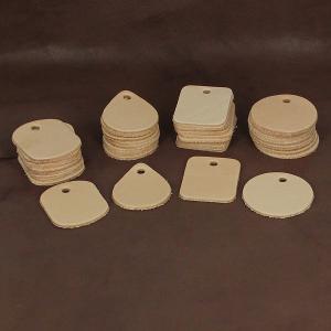 Lot de 40 découpes pour porte clés en cuir naturel à personnaliser