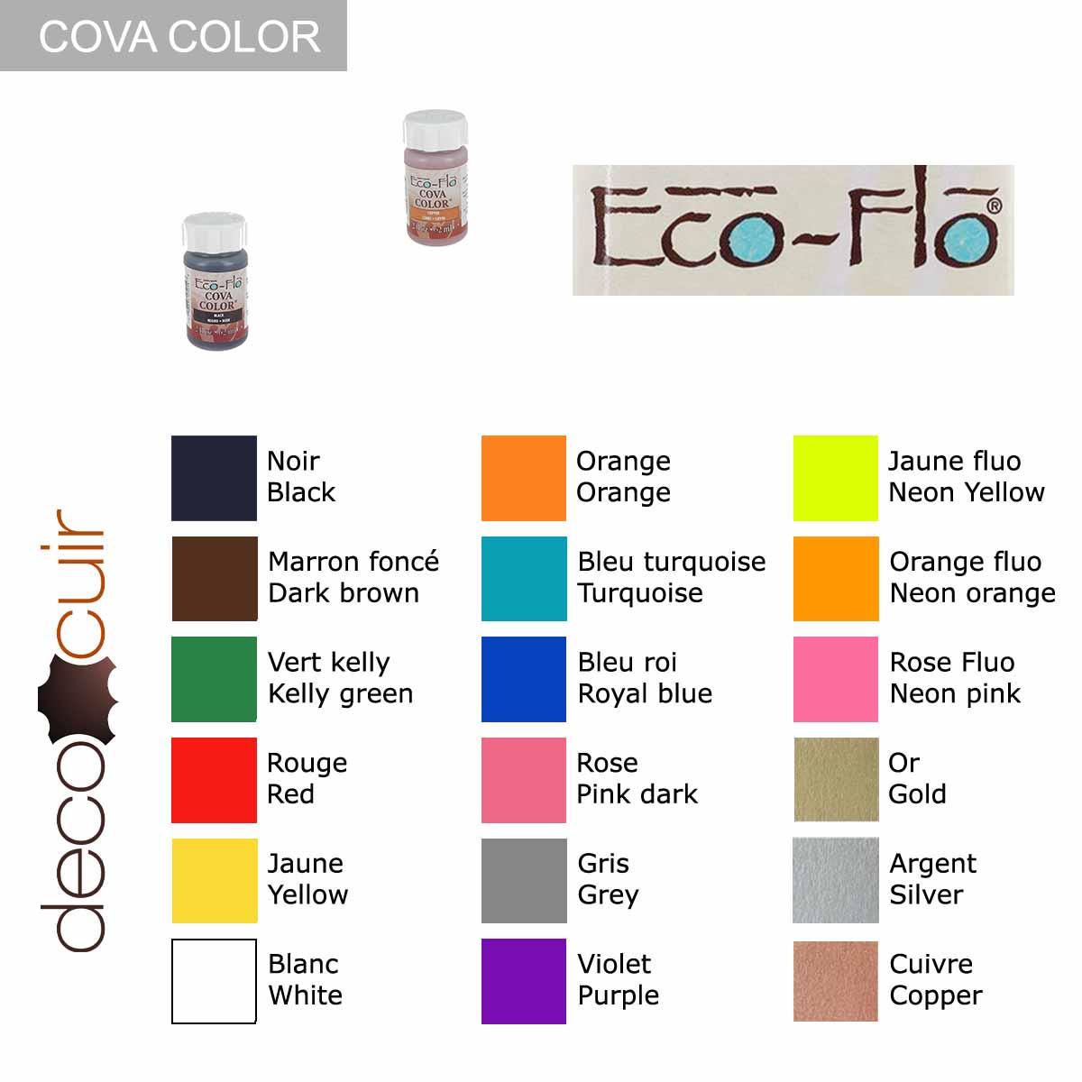 Peinture opaque à base d'eau - NOIR - Cova Color Eco Flo n°1