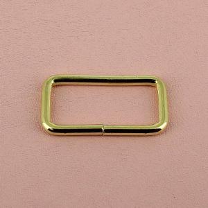 Passant rectangulaire - LAITON - 40 x 10 mm - Fil 3,4 mm
