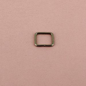 Passant rectangulaire - NICKELE - 10 x 8 mm - Fil 2 mm