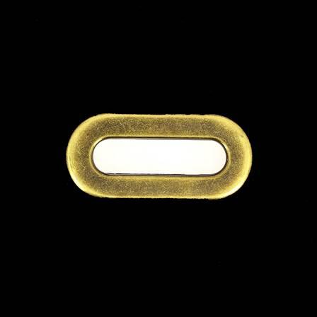 Lot de 25 œillets à griffe ovale - LAITON VIEILLI - 35x9 mm