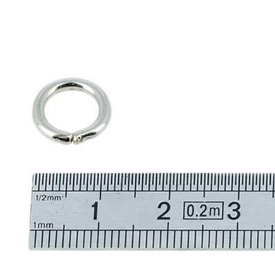 Anneau rond - acier NICKELE -  8 mm - Fil 2 mm