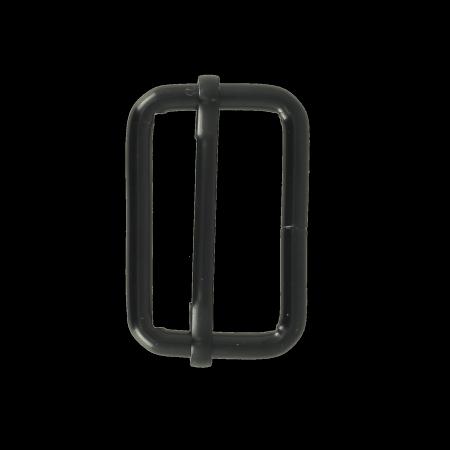 Boucle coulissante - NOIR MAT - 30x20 mm - Fil 4 mm