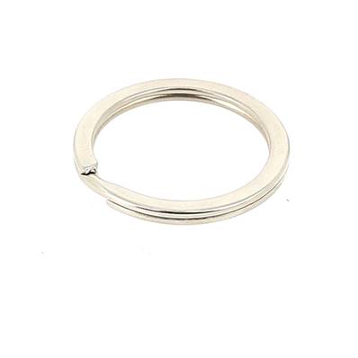 Anneau rond porte-clés plat - NICKELE - 23 mm