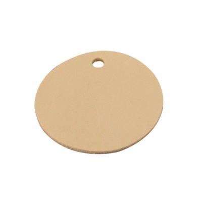 Découpe GRAND ROND pour porte clés en cuir naturel à personnaliser