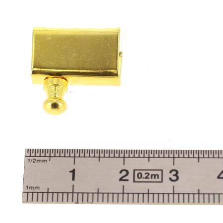 Départ de poignée à griffe et bouton de col - DORÉ LUXE - 18 mm