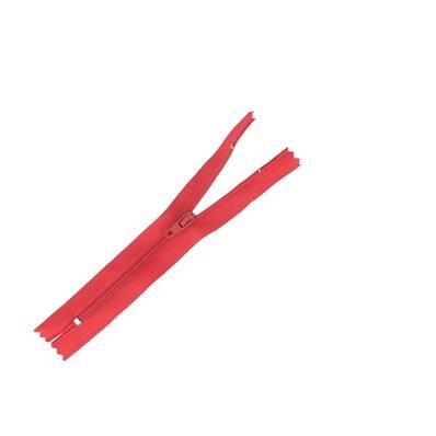 Fermeture à glissière NYLON #4 - ROUGE - Longueur 14 cm