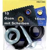 Kit Oeillets à rouler et outil de pose - 14 mm - NOIR