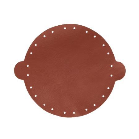 Cuir déja coupé pour faire une bourse en cuir MARRON - Diamètre 20 cm