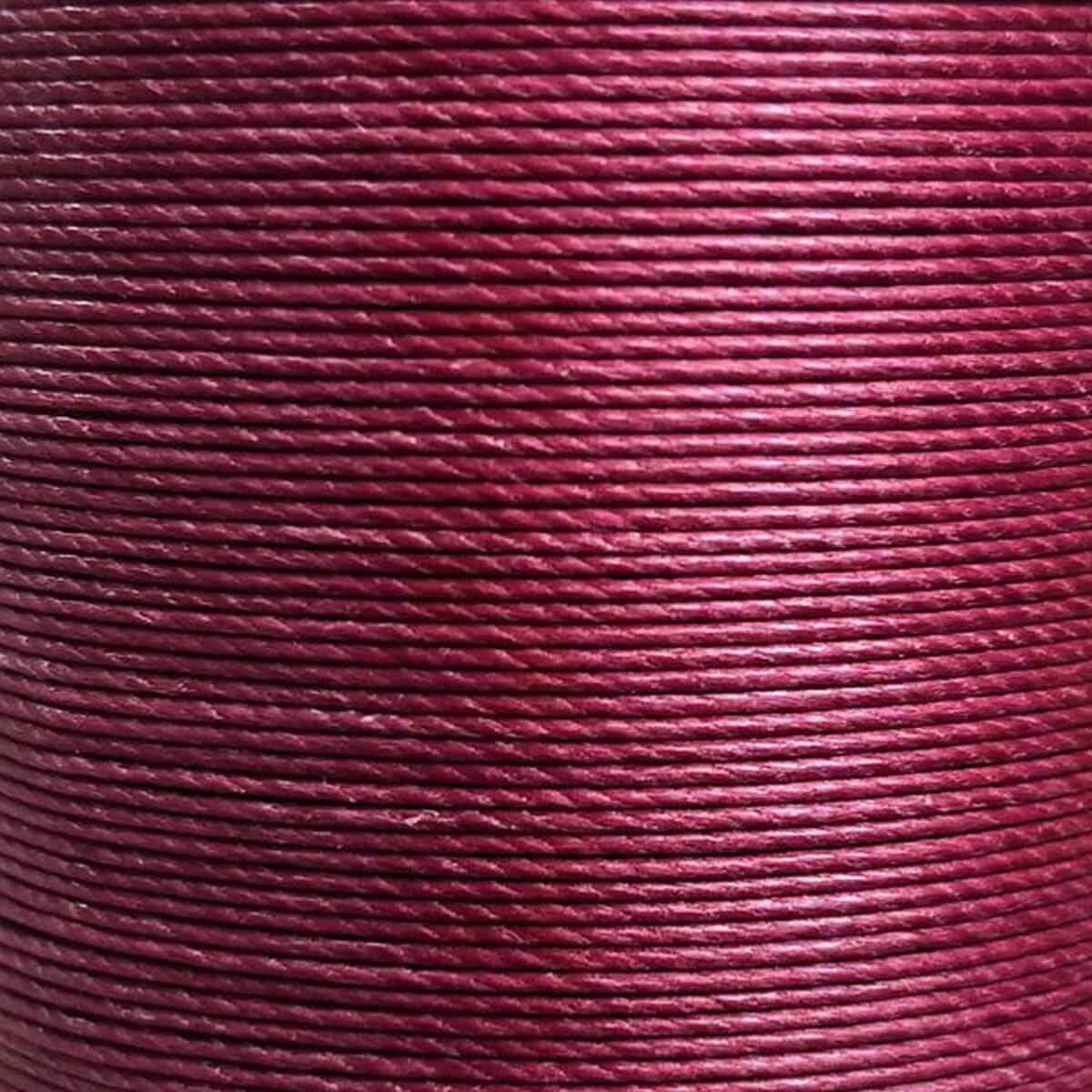 Bobine de 80m de fil de lin ciré MeiSi super fine M50 - 0,55 mm - BORDEAUX - MS008