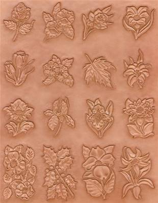 Calque réutilisable pour le transfert de motifs sur cuir - PLANTES
