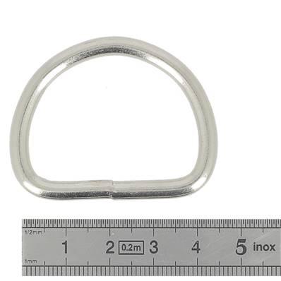 Anneau demi rond soudé - acier NICKELE - 35x28x4,5 mm