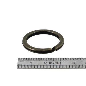 Anneau plat de porte-clés - LAITON VIEILLI - diam 25 mm