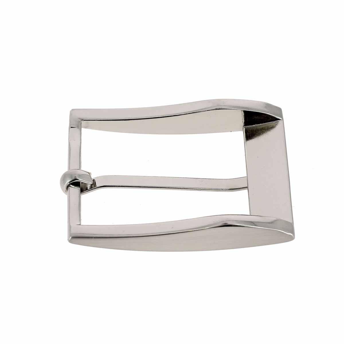 Boucle de ceinture ELI - NICKELE SATINE - 35 mm