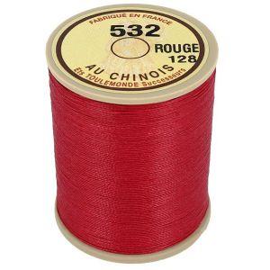 Bobine fil de lin au chinois câblé glacé - 532 - ROUGE 128