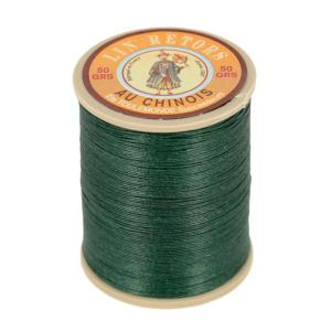 Bobine fil de lin au chinois retors extra glacé n°24 - VERT FONCE 894