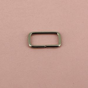 Passant rectangulaire - NICKELE - 20 x 8 mm - Fil 2 mm