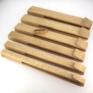 Lot de 6 pinces à passant pour pince de sellier pliante - largeur 15, 20, 25, 30, 35 et 40 mm