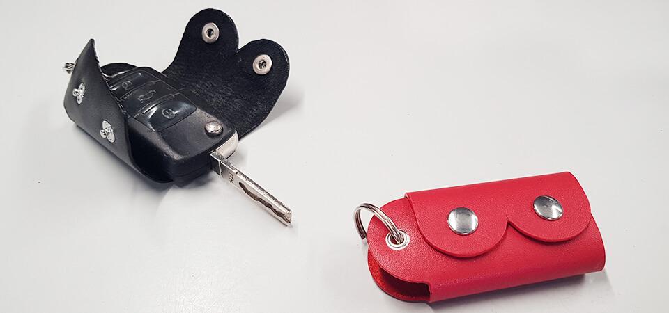 Tutoriel & Patron | Porte-clés en cuir Octobre Rose | Deco Cuir