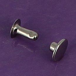 Lot de 100 rivets moyen en laiton (T4) finition nickelé
