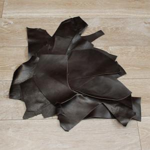 Lot de 1 kg de chutes de cuir LUXE - CHOCOLAT