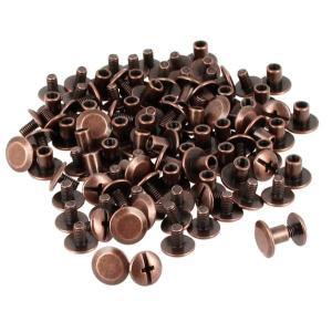 Lot de 50 Vis CHICAGO - Vieux cuivre - 9 mm de diamètre